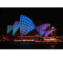 Opera House In Blue & Red Photographic Print