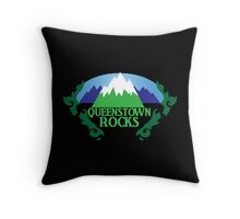 QUEENSTOWN rocks New Zealand with map Throw Pillow