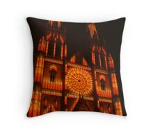 Christmas Candles at St Marys Throw Pillow
