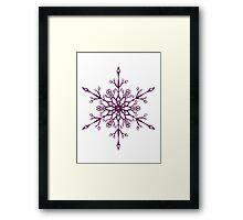Purple Snowflake Framed Print