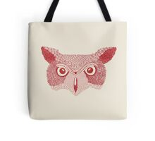 owl red Tote Bag