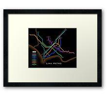 Lima Metro  Framed Print