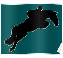 Show jumper Silhouette Poster