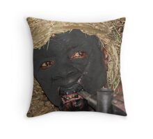 batwa pygmy spirit man Throw Pillow