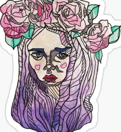 Flowergirl Sticker
