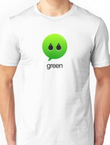 GREEN TYPOGRAPHY Unisex T-Shirt