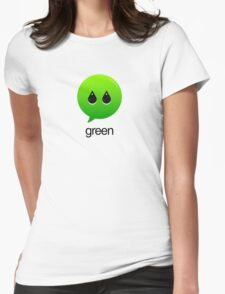 GREEN TYPOGRAPHY Womens Fitted T-Shirt
