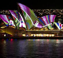 Peacock Sails - Sydney Vivid Festival - Sydney Opera House by Bryan Freeman