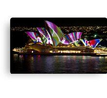Peacock Sails - Sydney Vivid Festival - Sydney Opera House Canvas Print
