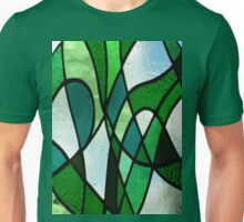 Stained Glass Abstract (Greens) Unisex T-Shirt