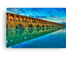 Si-o-Seh Pol (Bridge) - Isfahan - Iran - Daylight Canvas Print