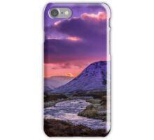 Glenshee near sunset iPhone Case/Skin