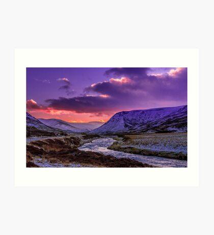 Glenshee near sunset Art Print