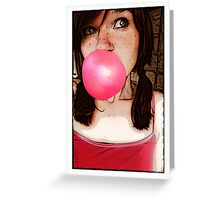 Red Bubble? Greeting Card