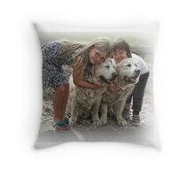 The Boys get a big hug Throw Pillow