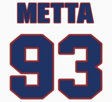 Basketball player Metta World jersey 93 by imsport