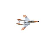 Model jet flying at high speed by John Newson