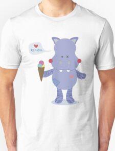 Hippo loves Ice Cream T-Shirt