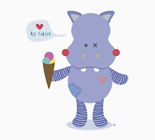 Hippo loves Ice Cream Unisex T-Shirt