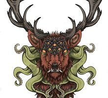 Cthulhu's Stag - Red by cjellis