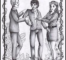 Hannibal tarots - The lovers - BW by Furiarossa