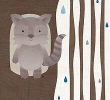 Little Raccoon by estherilustra