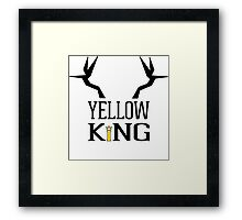 The Yellow King Framed Print