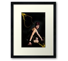 Glamour Photograph of Model Kirsty Framed Print