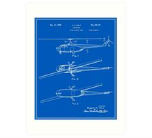 Helicopter Patent - Blueprint Art Print