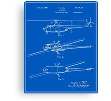 Helicopter Patent - Blueprint Canvas Print