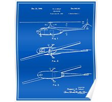 Helicopter Patent - Blueprint Poster