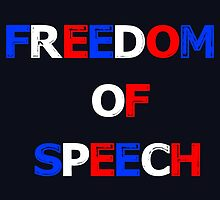 Freedom of Speech in the colors of the French Flag by JoCa-byJoeCarr