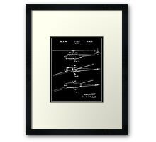 Helicopter Patent - Black Framed Print