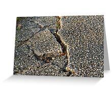 road earthquake Greeting Card