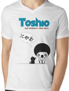 Toshio Mens V-Neck T-Shirt