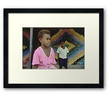 Ni-Vanuatu Boys Framed Print