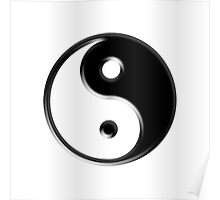 Black Yin Yang Symbol Poster