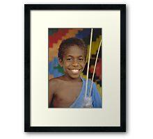 Ni-Vanuatu Boy 2 Framed Print