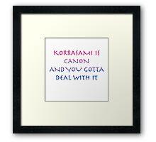 Korrasami Canon ~bisexual flag version Framed Print