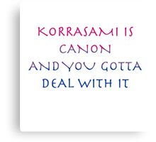 Korrasami Canon ~bisexual flag version Canvas Print