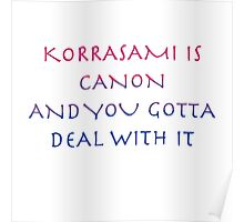 Korrasami Canon ~bisexual flag version Poster
