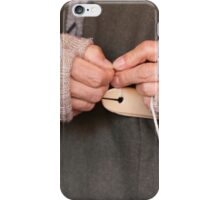 knitting with wool iPhone Case/Skin
