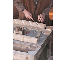 Woodworking Hand Photographic Print