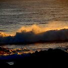 Surf in the sunset by Duncan Drummond