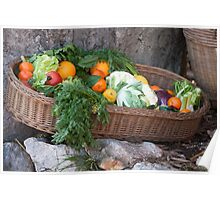 fruit and vegetables in the basket Poster