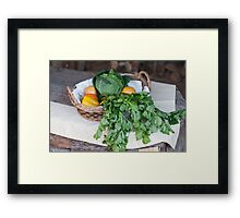 fruit and vegetables in the basket Framed Print