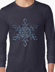 Light Blue Snowflake Long Sleeve T-Shirt