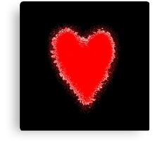 Red Heart on black Canvas Print