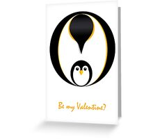 Valentine Penguin Greeting Card