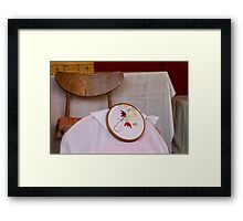 tambourine embroidery Framed Print